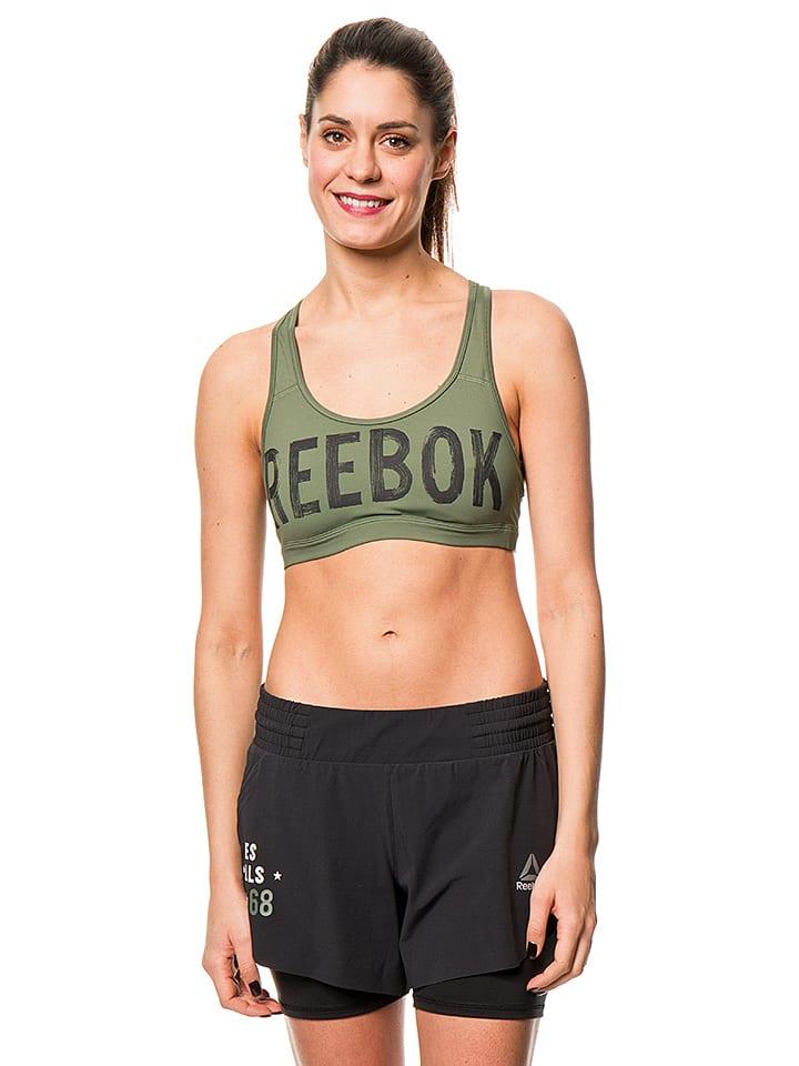 Reebok Sport-BH in Khaki - 43% | Größe M | Dame...