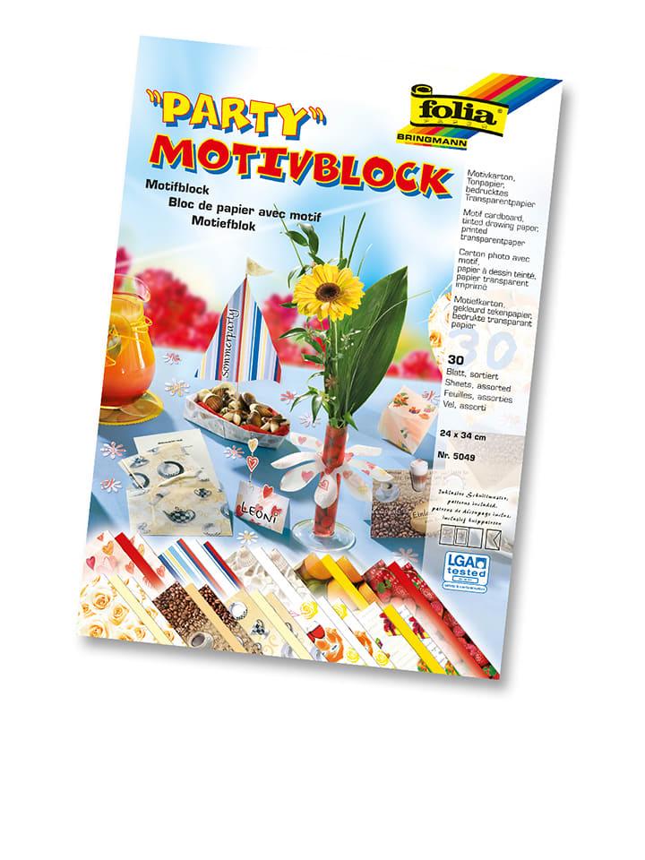 Folia PAPER Motivblock Party in Bunt - 30 Blatt - (L)34 x (B)24 cm - 32% |