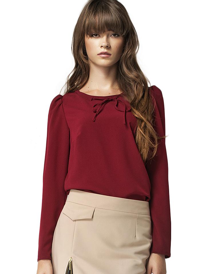 Nife Shirt in Bordeaux -15% | Größe 36 Langarm Tops Sale Angebote Hermsdorf