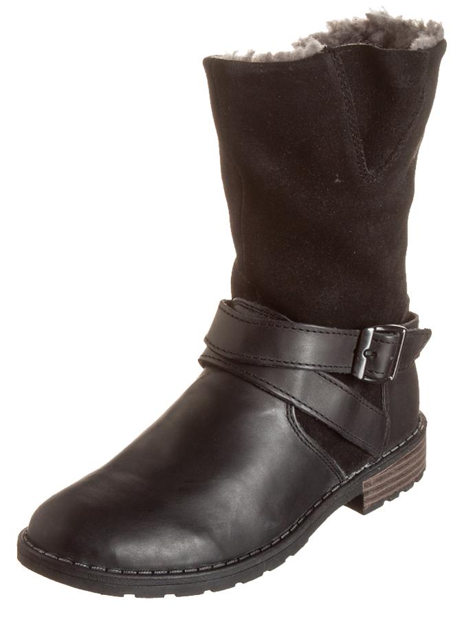 Pio Leder-Stiefel in Schwarz -36% | Größe 32 Stiefel Sale Angebote Türkendorf