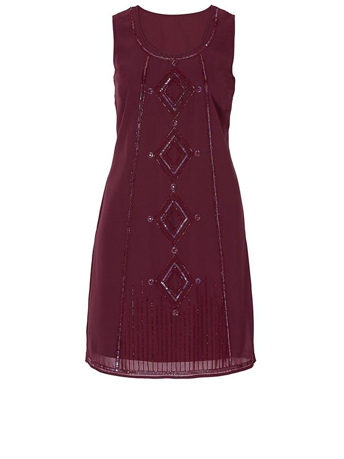 Sheego Kleid in Bordeaux -65% | Größe 40 | Etuikleider