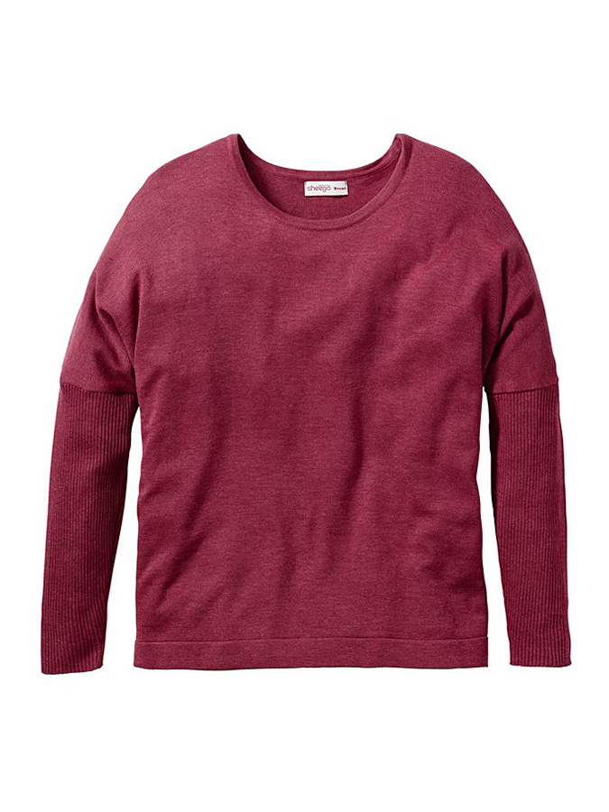 Sheego Pullover in Bordeaux -57% | Größe 56 Sale Angebote Wiesengrund
