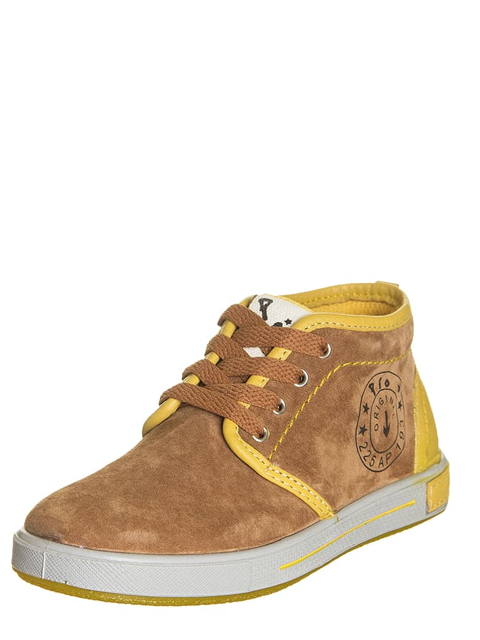 Pio Leder-Sneakers in Camel/ Gelb -56%   Größe 35 Sneaker Low Sale Angebote Gastrose-Kerkwitz