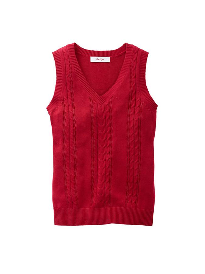 Sheego Pullunder in Rot -63% | Größe 56 | Pullunder