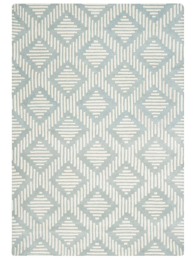 Safavieh Woll Teppich Parker in Grau Creme 50 Groesse