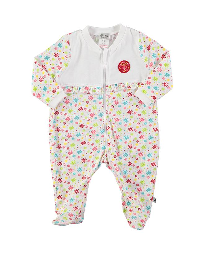 Jacky Schlafstrampler ´´Summer Feeling´´ in weiß -47 Größe 74 Pyjamas