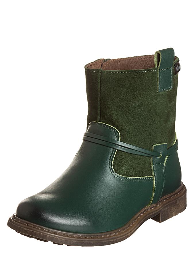 Billowy Leder-Boots in Grün - 71% | Größe 25 Kinderboots