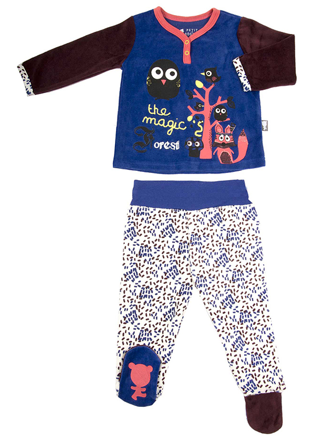Petit Beguin Pyjama in blau -52 Größe 68 Pyjamas