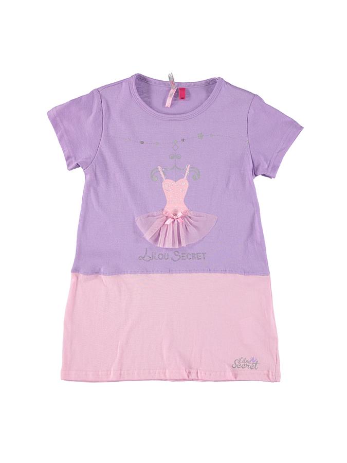Lilou Secret Nachthemd in flieder -56 Größe 86 Nachtwäsche
