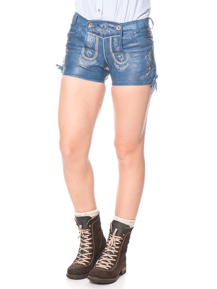 Stockerpoint Lederhose ´´Lola´´ in Blau - 71%   Größe 36 Damen leder hosen - broschei