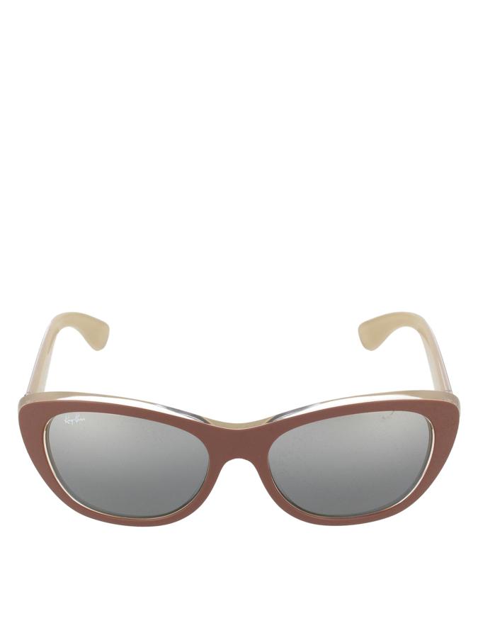 Ray Ban Damen-Sonnenbrille in Hellbraun -46 Größe 55 Sonnenbrillen