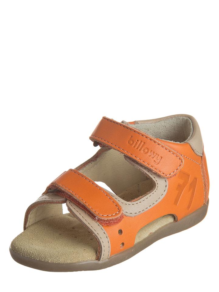 Billowy Leder-Sandalen in orange -52% | Größe 23 Sandalen