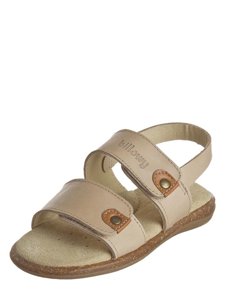 Billowy Leder-Sandalen in beige -65% | Größe 33 Sandalen