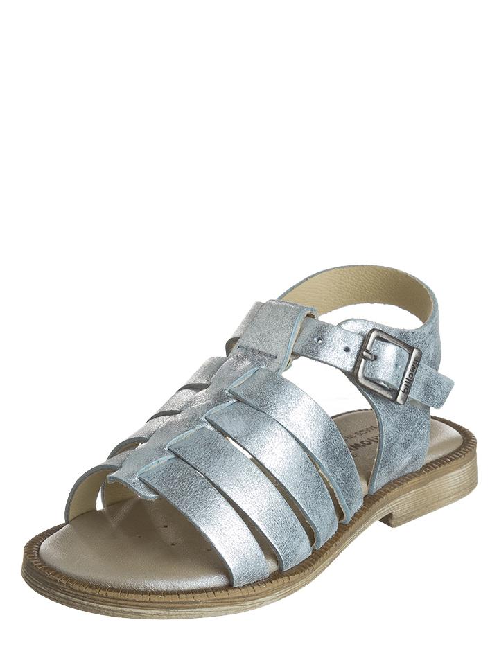 Billowy Leder-Sandalen in Silber -65% | Größe 24 Sandalen