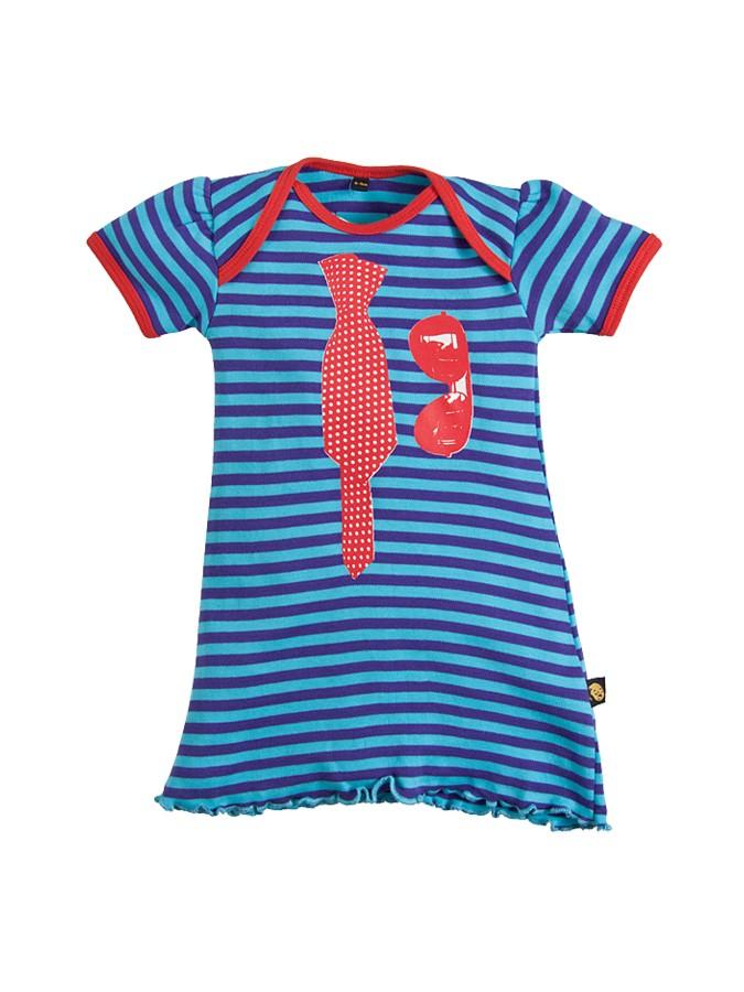 Sovereign Sleepwear Strickkleid mit Sonnenbrillen-Print in blau -62% | Größe 56/62 | Lange Kleider