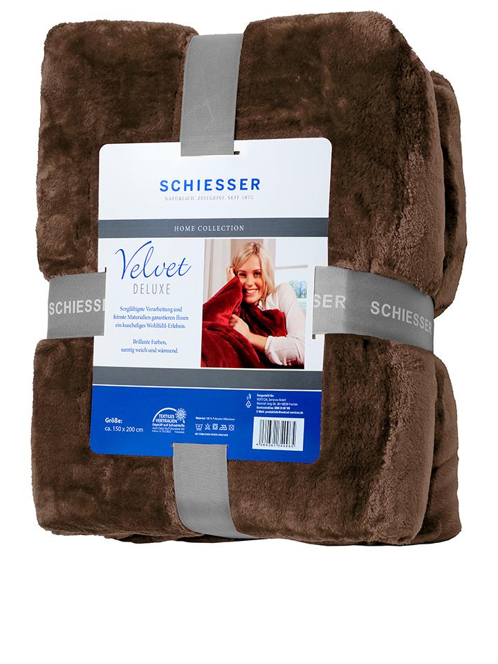 Schiesser Wohndecke ´´Velvet Deluxe´´ in Braun ...