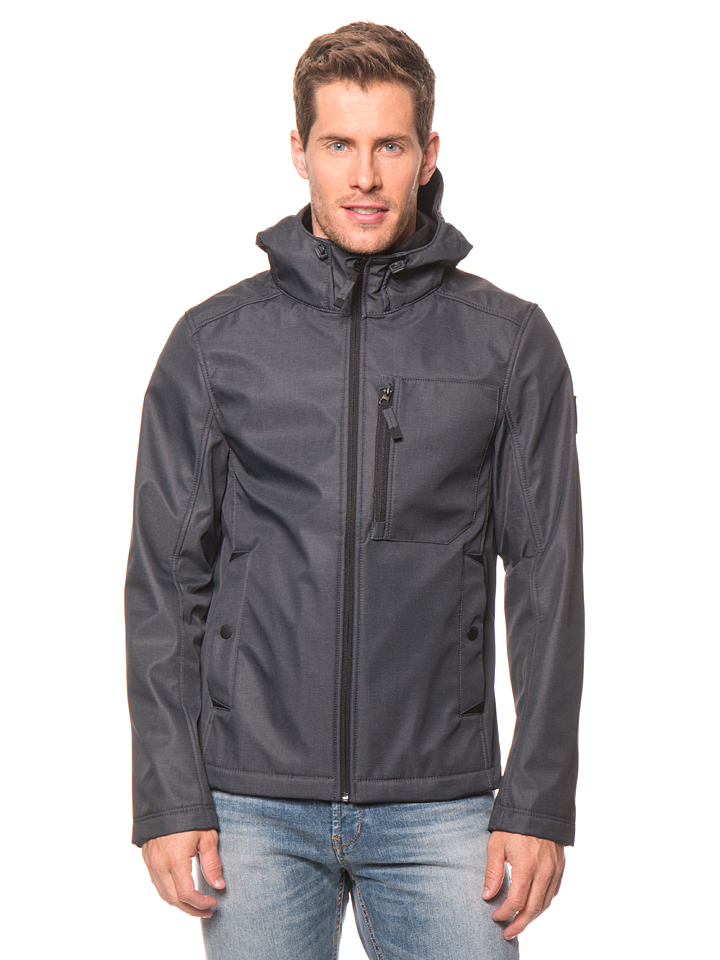 Tom Tailor Softshelljacke in Anthrazit -51% | Größe XXL | Softshell Jacken