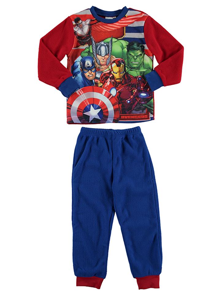 Avengers Fleecepyjama ´´Avengers´´ in rot -54 Größe 104 Pyjamas