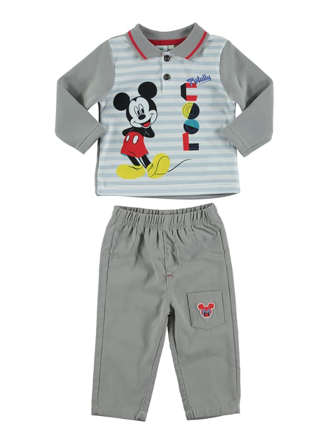 Disney Mickey Mouse 2tlg. Outfit ´´Mickey´´ in Hellgrau - 19% | Größe 86 Baby shirts