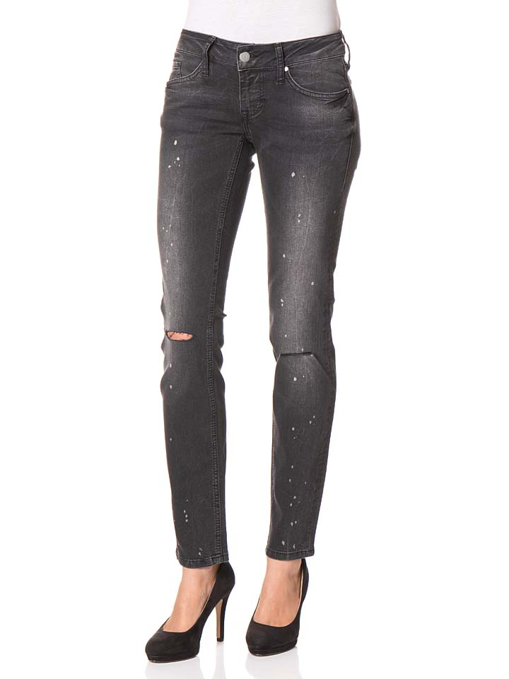 Mustang Jeans ´´Gina´´ - Skinny fit in Anthrazit -59% | Größe W28/L32