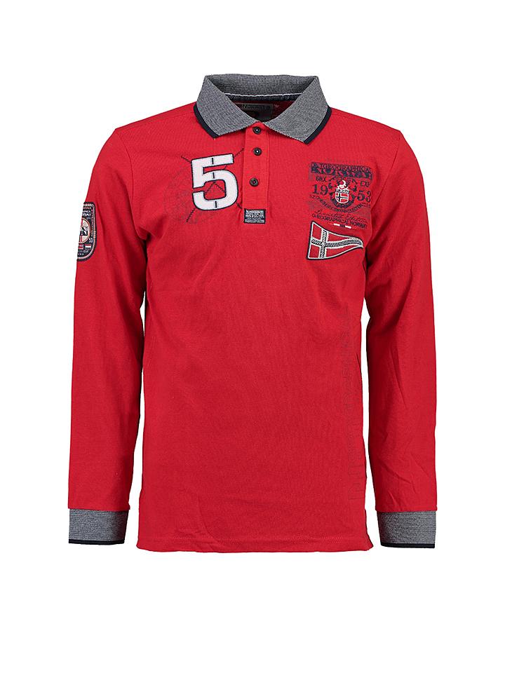 Geographical Norway Poloshirt ´´Kantibe´´ in Rot -68% | Größe M Longsleeve Sale Angebote Türkendorf