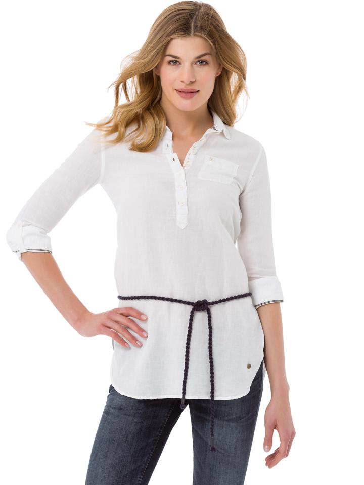 GAASTRA Tunika ´´Monsoon´´ - Regular fit - in Weiß -62 Größe XL Langarm Blusen