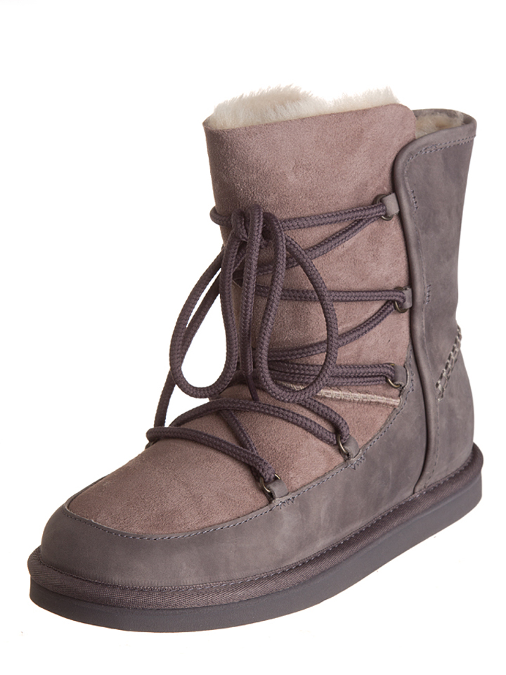 "UGG Lammfell-Boots ""Lodge"" in Taupe -63% 