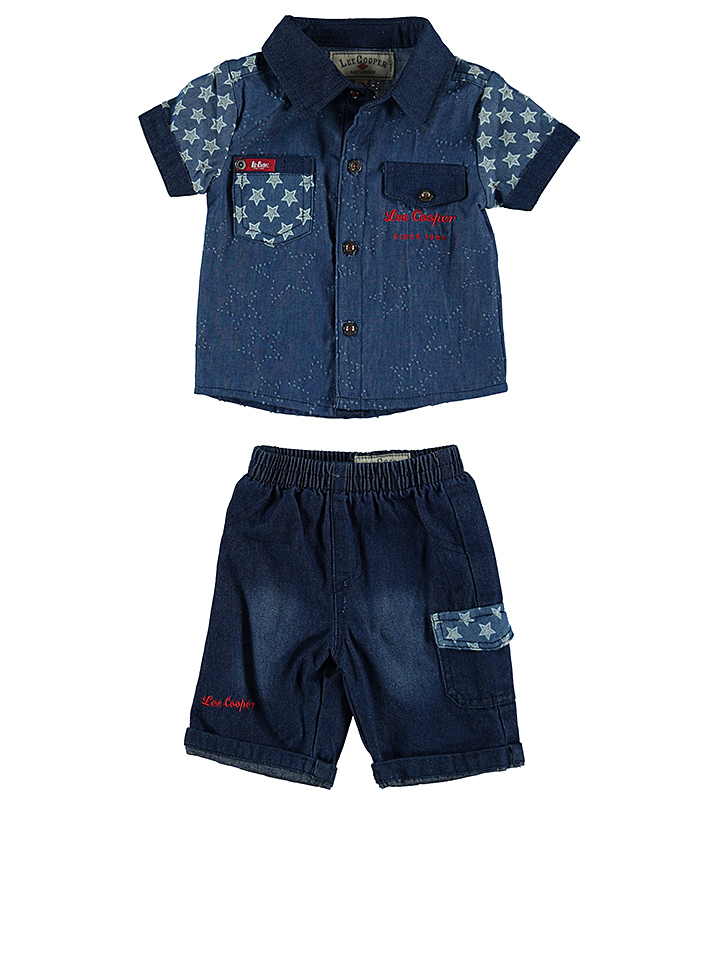 Lee Cooper 3tlg. Outfit in Rot - 54%   Größe 80 Baby shirts