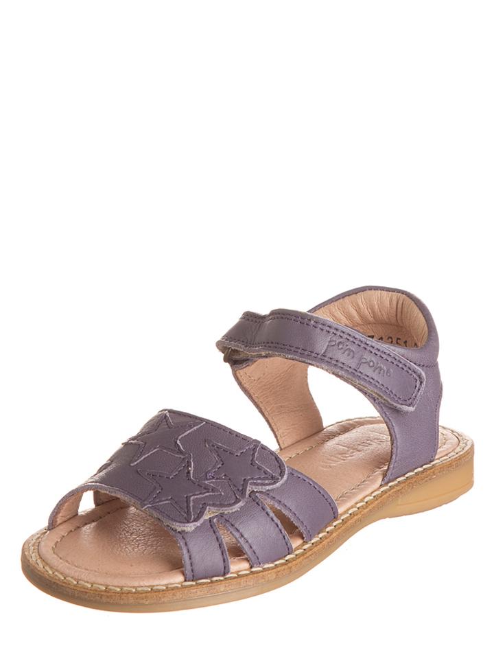 POM Leder-Sandalen in Lila -57%   Größe 31 Sandalen Sale Angebote Hohenbocka