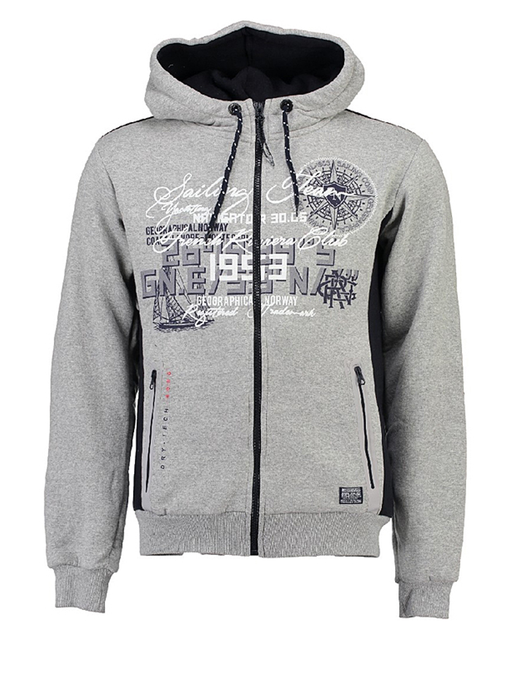 Neupetershain Angebote Geographical Norway Sweatjacke ´´Gailing´´ in Grau - 64% | Größe S Herren pullover sport