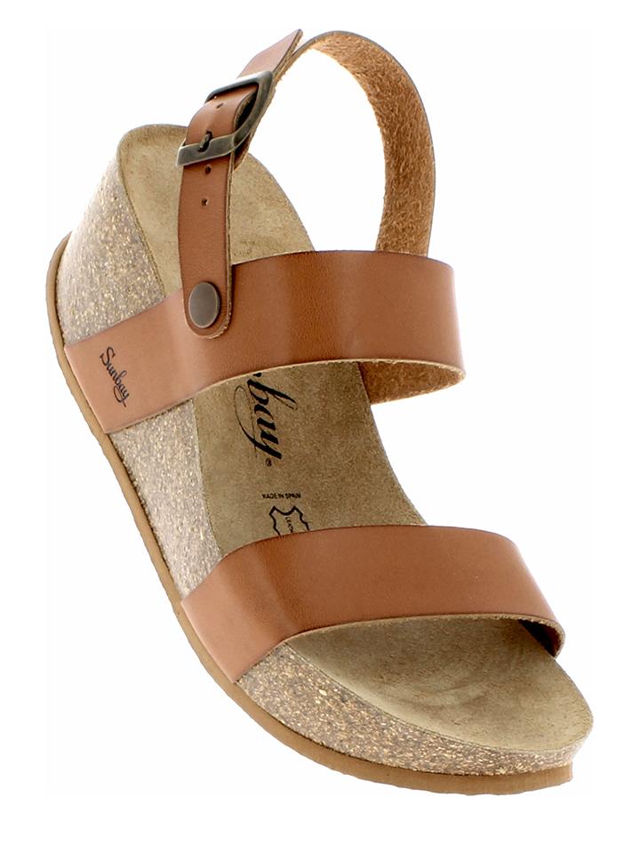 Sunbay Leder-Sandaletten in Camel - 67 Größe 36 Damen sandalen