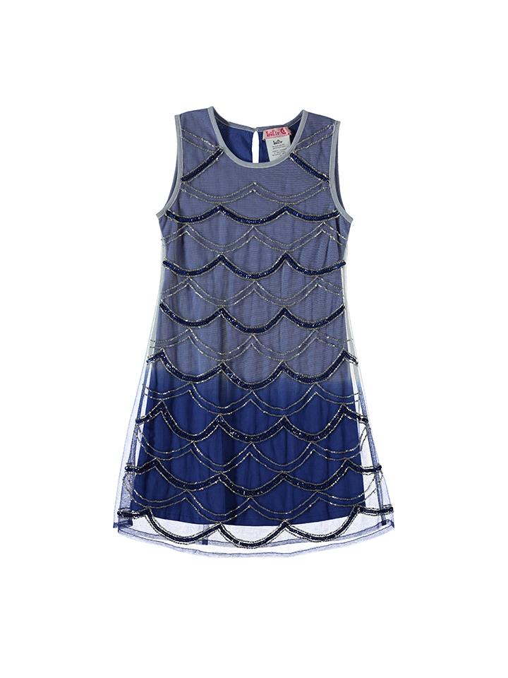 Guteborn Angebote Lofff Kleid in Blau - 62% | Größe 92 Kinderkleider