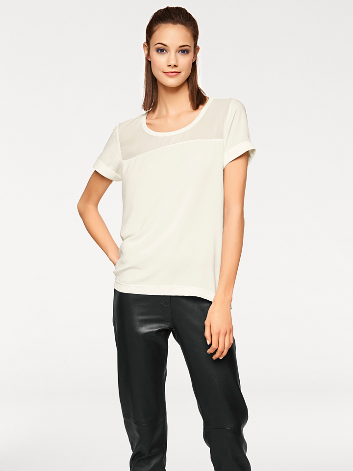 Rick cardona by heine Shirt in Creme -46%   Größe 46 Kurzarm Tops Sale Angebote Wiesengrund