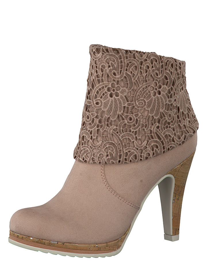 Marco Tozzi Stiefeletten in Rosa -41% | Größe 40 Ankle Boots Sale Angebote Frauendorf