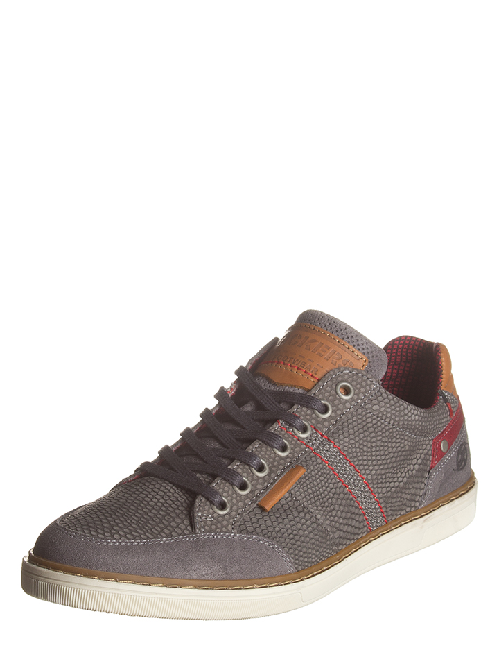 Dockers by Gerli Leder-Sneakers in Grau -54% | Größe 41 Sneaker Low
