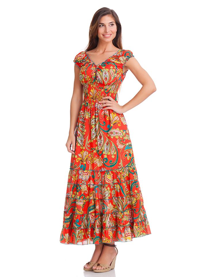 Calao Kleid in rot -55% | Größe L Lange Kleider Sale Angebote Hermsdorf