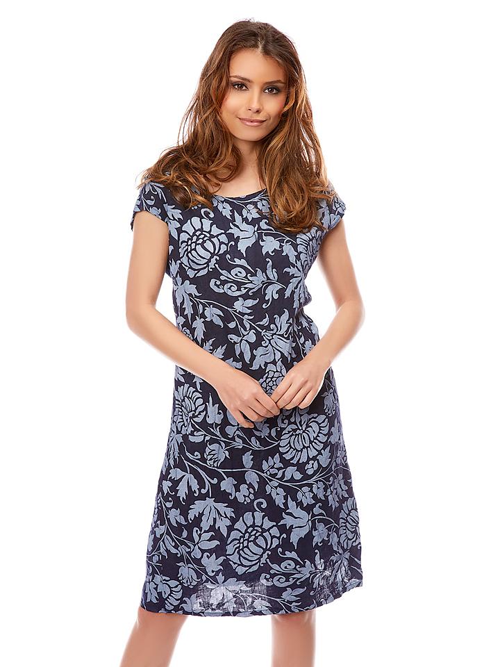 Bagatelle Leinen-Kleid ´´Lia´´ in Dunkelblau -66% | Größe 42 Casual Kleider Sale Angebote Bagenz
