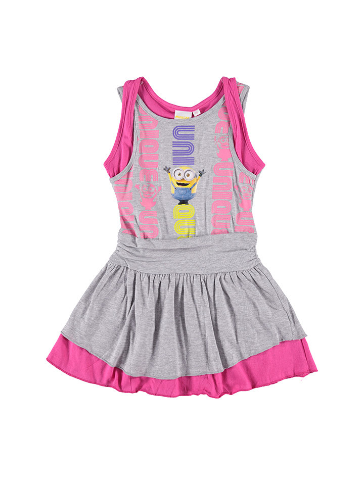Minions Kleid ´´Minions´´ in grau -57% | Größe 92 Kleider Sale Angebote Horka