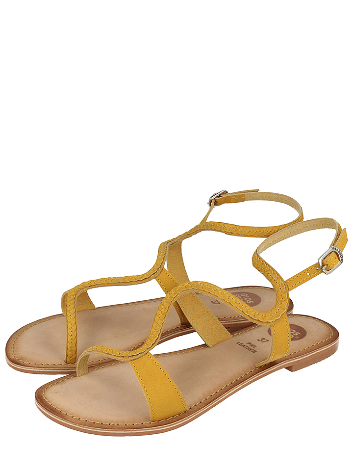 Gioseppo Sandalen ´´Seine´´ in Gelb -38%   Größe 40 Sandaletten Sale Angebote Wiesengrund