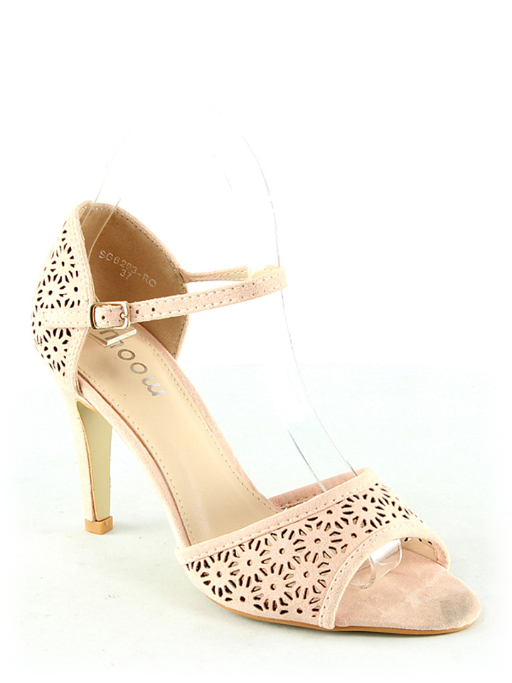 Moow Sandaletten in beige -61% | Größe 40 | Hohe Sandaletten
