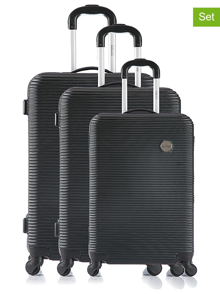 Georges Rech 3tlg. Hardcase-Trolleyset ´´Oxford´´ in Schwarz -76% | Reisegepäck Sale Angebote Bagenz
