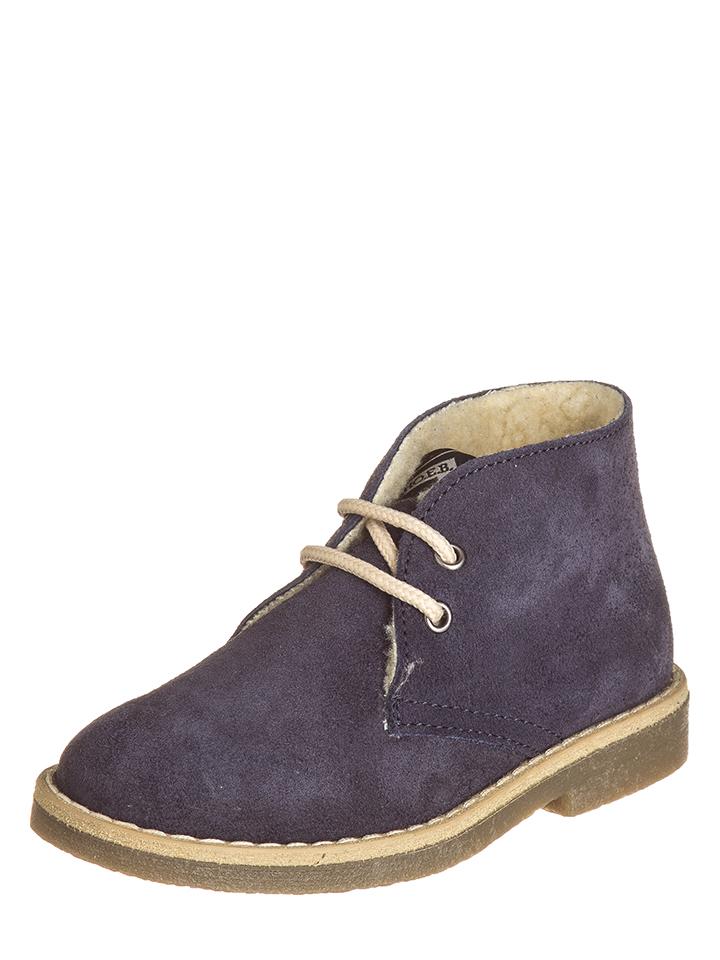 EB Shoes Leder-Schnürschuhe in Dunkelblau - 62% | Größe 21 Kinderschnuerschuhe