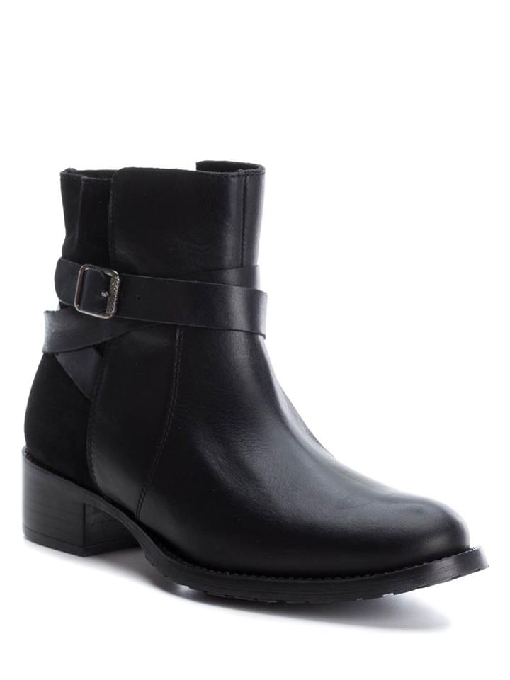 CARMELA Leder-Boots in Schwarz - 46% | Größe 41 Stiefeletten