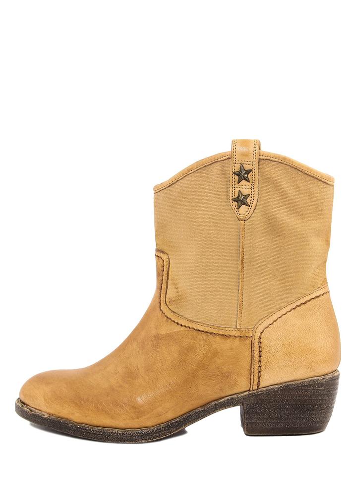 PAOLA FERRI Leder-Boots in Senfgelb - 74% | Größe 40 Stiefeletten