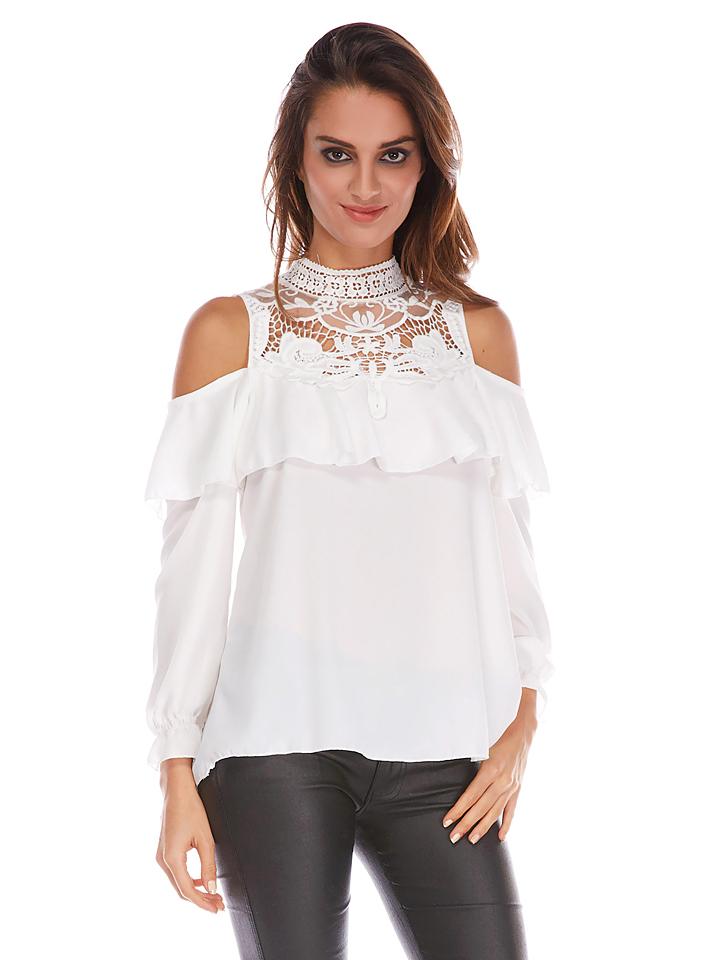 Jo & Jil Shirt ´´Mabel´´ in Weiß -70% | Größe 34 Langarm Tops