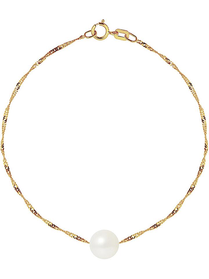 Pearline Gold-Armkette mit Süßwasserzuchtperlen...
