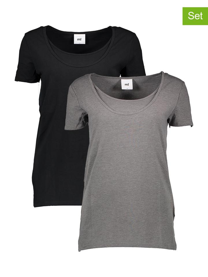 Mama licious 2er-Set Shirts in Schwarz - 50 Größe L Umstandsoberteile