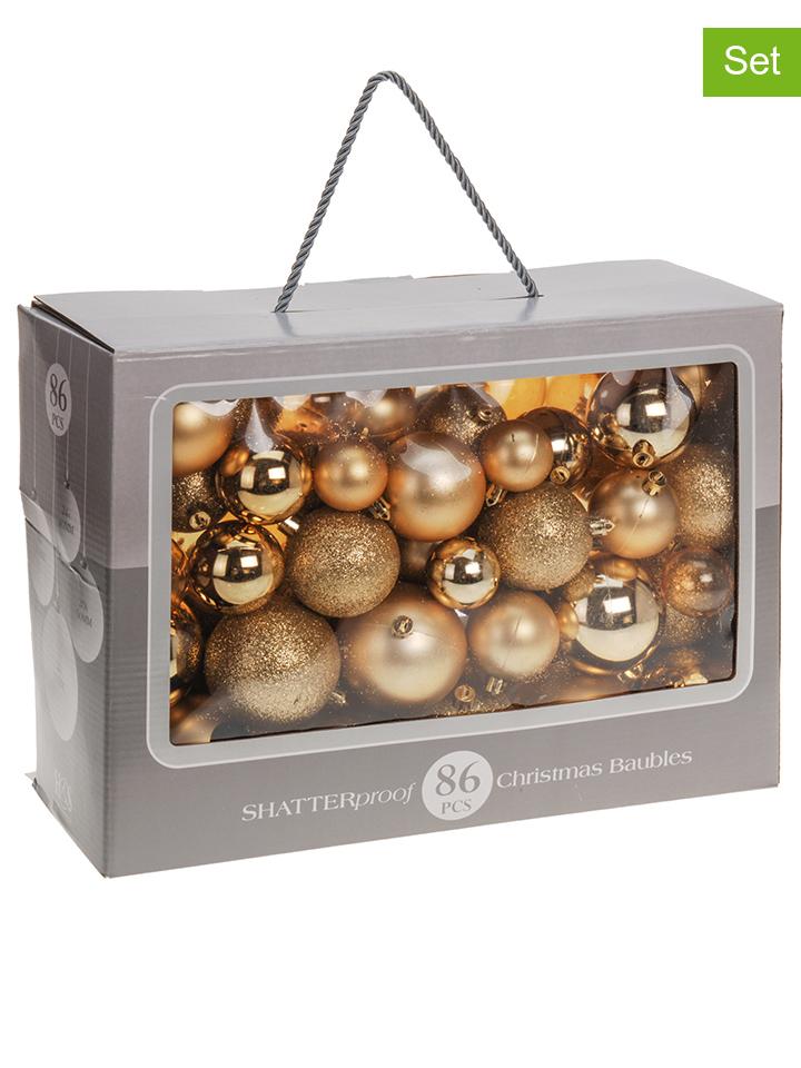 - 86er-Set: Weihnachtskugeln in Gold - 56%   We...