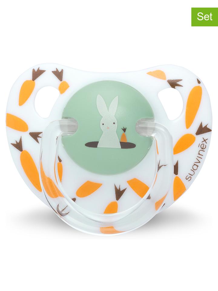 Großkmehlen Angebote Suavinex 2er-Set: Schnuller ´´Happy Bunny´´ in Orange - ab 18 Monaten 24% | Babyartikel