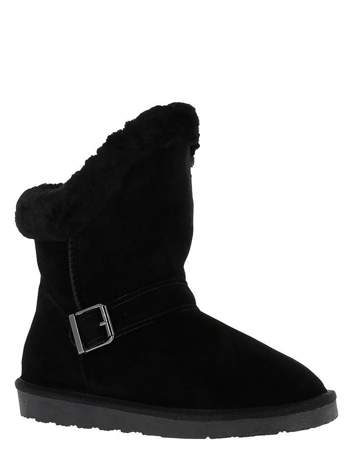 Minnetonka Leder-Boots in Schwarz - 37% | Größe 39 | Stiefeletten